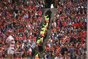 13 August 2017; Security staff go to their end of game positions during the GAA Hurling All-Ireland Senior Championship Semi-Final match between Cork and Waterford at Croke Park in Dublin. Photo by Ray McManus/Sportsfile
