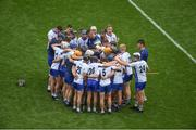 13 August 2017; Waterford selector Dan Shanahan speaks to the players ahead of the GAA Hurling All-Ireland Senior Championship Semi-Final match between Cork and Waterford at Croke Park in Dublin. Photo by Daire Brennan/Sportsfile