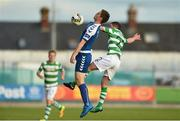 15 August 2017; David O'Connor of Limerick in action against James Doona of Shamrock Rovers during the SSE Airtricity League Premier Division match between Limerick FC and Shamrock Rovers at Market's Field in Limerick. Photo by Diarmuid Greene/Sportsfile