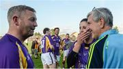 15 August 2017; Damien Fitzhenry, left, former Wexford hurler, Mags Darcy, Wexford camógie player, and Liam Griffin, former Wexford hurling manager, at the sixth annual Hurling for Cancer Research game, a celebrity hurling match in aid of the Irish Cancer Society in St Conleth's Park, Newbridge. The event, organised by legendary racehorse trainer Jim Bolger and National Hunt jockey Davy Russell, has raised €540,000 to date to fund the Irish Cancer Society's innovative cancer research projects. St. Conleth's Park, Newbridge, Co Kildare. Photo by Piaras Ó Mídheach/Sportsfile