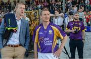 15 August 2017; Henry Shefflin, former Kilkenny hurler, left, former Galway hurler Ollie Canning, at the sixth annual Hurling for Cancer Research game, a celebrity hurling match in aid of the Irish Cancer Society in St Conleth's Park, Newbridge. The event, organised by legendary racehorse trainer Jim Bolger and National Hunt jockey Davy Russell, has raised €540,000 to date to fund the Irish Cancer Society's innovative cancer research projects. St. Conleth's Park, Newbridge, Co Kildare. Photo by Piaras Ó Mídheach/Sportsfile
