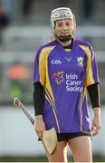 15 August 2017; Mags Darcy, Wexford camógie player, representing Jim Bolger's Stars, during the sixth annual Hurling for Cancer Research game, a celebrity hurling match in aid of the Irish Cancer Society in St Conleth's Park, Newbridge. The event, organised by legendary racehorse trainer Jim Bolger and National Hunt jockey Davy Russell, has raised €540,000 to date to fund the Irish Cancer Society's innovative cancer research projects. The final score was: Jim Bolger's Best: 7-21, Davy Russell's Stars 8-13. St. Conleth's Park, Newbridge, Co Kildare. Photo by Piaras Ó Mídheach/Sportsfile