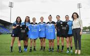 16 August 2017; AIG were in Old Wesley Rugby Football Club in Donnybrook today to facilitate a meet and greet with representatives from the New Zealand Black Ferns, Dublin Ladies Football team and Dublin Camogie team. The girls participated in a cross skills challenge involving gaelic football, camogie, and rugby. AIG are Official Insurance Partner of the New Zealand Black Ferns, and local sponsors to the Dublin Ladies Football team and Dublin Camogie team. Pictured, from left, are Dublin Camogie players Claire Donnelly and Aisling Carolan, New Zealand Black Ferns Selica Winiata, Hazel Tubic, and Theresa Fitzpatrick, and Dublin Footballers Molly Lamb and Sinéad Goldrick with AIG Ireland's Rebecca Claffey after exchanging jerseys. Photo by Cody Glenn/Sportsfile