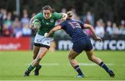17 August 2017; Hannah Tyrrell of Ireland is tackled by Caroline Ladagnous of France during the 2017 Women's Rugby World Cup Pool C match between France and Ireland at the UCD Bowl in Belfield, Dublin. Photo by Matt Browne/Sportsfile