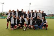 13 May 2012; Cork Harlequins celebrate with the cup. Men's Irish Senior Cup Final, Railway Union v Cork Harlequins, National Hockey Stadium, UCD, Belfield, Dublin. Picture credit: Stephen McCarthy / SPORTSFILE