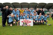 13 May 2012; The Avondale squad and management celebrate with the cup. FAI Umbro Intermediate Cup, Cherry Orchard FC v Avondale FC, Tallaght Stadium, Tallaght, Co. Dublin. Picture credit: Tomas Greally / SPORTSFILE