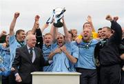 13 May 2012; Karl Caufield, Avondale F.C, celebrates with team-mates as he lifts the cup. FAI Umbro Intermediate Cup, Cherry Orchard FC v Avondale FC, Tallaght Stadium, Tallaght, Co. Dublin. Picture credit: Tomas Greally / SPORTSFILE