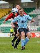 13 May 2012; Mark O'Sullivan, Avandale FC, in action against Wayne Byrne, Cherry Orchard FC. FAI Umbro Intermediate Cup, Cherry Orchard FC v Avondale FC, Tallaght Stadium, Tallaght, Co. Dublin. Picture credit: Tomas Greally / SPORTSFILE