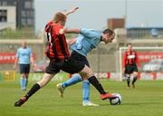 13 May 2012; Lee Collins, Cherry Orchard FC, in action against Karl Caulfield, Avondale FC. FAI Umbro Intermediate Cup, Cherry Orchard FC v Avondale FC, Tallaght Stadium, Tallaght, Co. Dublin. Picture credit: Tomas Greally / SPORTSFILE