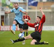 13 May 2012; Karl Caufield, Avondale FC., in action against Daniel Ennis, Cherry Orchard FC. FAI Umbro Intermediate Cup, Cherry Orchard FC v Avondale FC, Tallaght Stadium, Tallaght, Co. Dublin. Picture credit: Tomas Greally / SPORTSFILE