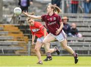 19 August 2017; Caitriona Cormican of Galway in action against Melissa Duggan of Cork during the TG4 Ladies Football All-Ireland Senior Championship Quarter-Final match between Cork and Galway at Cusack Park in Westmeath. Photo by Matt Browne/Sportsfile