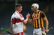 19 August 2017; Liam Blanchfield of Kilkenny and Shéa McKeever of Derry shake hands after the Bord Gáis Energy GAA Hurling All-Ireland U21 Championship Semi-Final match between Kilkenny and Derry at Semple Stadium in Tipperary. Photo by Daire Brennan/Sportsfile
