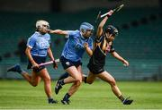 19 August 2017; Katie Power of Kilkenny in action against Eva Marie Elliott, right, Ali Twomey of Dublin during the All-Ireland Senior Camogie Championship Semi-Final between Dublin and Kilkenny at the Gaelic Grounds in Limerick. Photo by Diarmuid Greene/Sportsfile