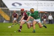 19 August 2017; Conor Whelan of Galway in action against Thomas Grimes of Limerick during the Bord Gáis Energy GAA Hurling All-Ireland U21 Championship Semi-Final match between Galway and Limerick at Semple Stadium in Tipperary. Photo by Daire Brennan/Sportsfile