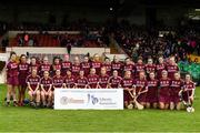 19 August 2017; The Galway squad ahead of the All-Ireland Senior Camogie Championship Semi-Final between Cork and Galway at the Gaelic Grounds in Limerick. Photo by Diarmuid Greene/Sportsfile