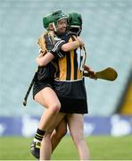 19 August 2017; Michelle Teehan, left, and Denise Gaule of Kilkenny celebrate after the All-Ireland Senior Camogie Championship Semi-Final between Dublin and Kilkenny at the Gaelic Grounds in Limerick. Photo by Diarmuid Greene/Sportsfile