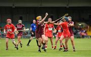 19 August 2017; Sarah Dervan of Galway in action against Orla Cronin of Cork during the All-Ireland Senior Camogie Championship Semi-Final between Cork and Galway at the Gaelic Grounds in Limerick. Photo by Diarmuid Greene/Sportsfile