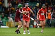 19 August 2017; Ashling Thompson of Cork in action against Ann Marie Starr of Galway during the All-Ireland Senior Camogie Championship Semi-Final between Cork and Galway at the Gaelic Grounds in Limerick. Photo by Diarmuid Greene/Sportsfile