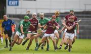 19 August 2017; Galway players, left to right, Joseph Mooney, Jack Grealish, Seán Linnane, and Kevin McHugo in action against Limerick players, left to right, Robbie Hanley, Cian Lynch and Tom Morrissey during the Bord Gáis Energy GAA Hurling All-Ireland U21 Championship Semi-Final match between Galway and Limerick at Semple Stadium in Tipperary. Photo by Daire Brennan/Sportsfile