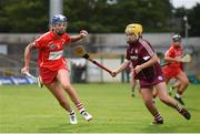 19 August 2017; Ashling Thompson of Cork in action against Siobhan McGrath of Galway during the All-Ireland Senior Camogie Championship Semi-Final between Cork and Galway at the Gaelic Grounds in Limerick. Photo by Diarmuid Greene/Sportsfile