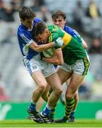20 August 2017; David Clifford of Kerry in action against Philip Nulty, left, and John Cooke of Cavan during the Electric Ireland GAA Football All-Ireland Minor Championship Semi-Final match between Cavan and Kerry at Croke Park in Dublin. Photo by Piaras Ó Mídheach/Sportsfile