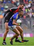 20 August 2017; James O'Donoghue of Kerry is tackled by Aidan O'Shea of Mayo during the GAA Football All-Ireland Senior Championship Semi-Final match between Kerry and Mayo at Croke Park in Dublin. Photo by Ramsey Cardy/Sportsfile