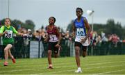 20 August 2017; Funmi Talabi of Edgeworthstown, Co Longford, on her way to winning the Girls U12 and O12 100m final during day 2 of the Aldi Community Games August Festival 2017 at the National Sports Campus in Dublin. Photo by Sam Barnes/Sportsfile