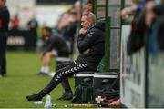 20 August 2017; Derry City Manager Kenny Shiels sitting on the sidelline during the SSE Airtricity League Premier Division match between Derry City and Dundalk at Maginn Park in Buncrana, Co Donegal. Photo by Oliver McVeigh/Sportsfile