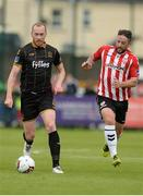 20 August 2017; Chris Shields of Dundalk in action against Rory Patterson of Derry City during the SSE Airtricity League Premier Division match between Derry City and Dundalk at Maginn Park in Buncrana, Co Donegal. Photo by Oliver McVeigh/Sportsfile
