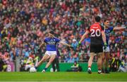 20 August 2017; Bryan Sheehan of Kerry fails to convert a last minute free during the GAA Football All-Ireland Senior Championship Semi-Final match between Kerry and Mayo at Croke Park in Dublin. Photo by Ray McManus/Sportsfile