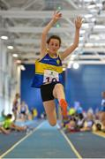 20 August 2017; Sarah McPhillips of AMG, Co Roscommon, competing in the Girls U14 and O12 Long Jump event during day 2 of the Aldi Community Games August Festival 2017 at the National Sports Campus in Dublin. Photo by Sam Barnes/Sportsfile