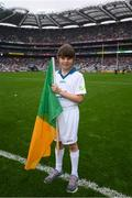 20 August 2017; eir GAA flagbearer Grainne Daughton at the All-Ireland Senior Football Semi-final between Mayo and Kerry in Croke Park, Dublin. Photo by Stephen McCarthy/Sportsfile