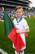 20 August 2017; eir GAA flagbearer Conor Mayock at the All-Ireland Senior Football Semi-final between Mayo and Kerry in Croke Park, Dublin. Photo by Stephen McCarthy/Sportsfile