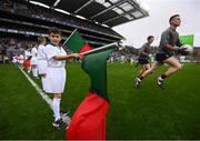 20 August 2017; eir GAA flagbearer Jonah Flanagan at the All-Ireland Senior Football Semi-final between Mayo and Kerry in Croke Park, Dublin. Photo by Stephen McCarthy/Sportsfile