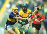 11 August 2002; Joe Codd, Wexford, in action against David Kennedy, Tipperary. Tipperary v Wexford, All Ireland Minor Hurling Semi - Final, Croke Park, Dublin. Picture credit; Damien Eagers / SPORTSFILE