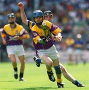 11 August 2002; Joe Codd, Wexford minor. Hurling. Picture credit; Brian Lawless / SPORTSFILE
