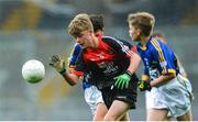 20 August 2017; Matthew Flynn of Scoil Mhuire National School, Co Longford, representing Mayo, during the INTO Cumann na mBunscol GAA Respect Exhibition Go Games at half time during the GAA Football All-Ireland Senior Championship Semi-Final match between Kerry and Mayo at Croke Park in Dublin. Photo by Piaras Ó Mídheach/Sportsfile