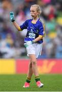 20 August 2017; Aoife Gormley of Holy Family, Co Derry, representing Kerry, during the INTO Cumann na mBunscol GAA Respect Exhibition Go Games at half time of the GAA Football All-Ireland Senior Championship Semi-Final match between Kerry and Mayo at Croke Park in Dublin. Photo by Stephen McCarthy/Sportsfile