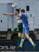 21 August 2017; Garry Buckley of Cork City in action against Killian Cantwell of Finn Harps during the SSE Airtricity League Premier Division match between Finn Harps and Cork City at Finn Park in Ballybofey, Donegal. Photo by Oliver McVeigh/Sportsfile