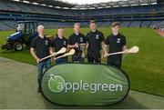 23 August 2017; In attendance at the Applegreen All-Ireland Hurling 7s launch, are, from left, Dublin hurler Fergal Whitely, Dublin hurler David O'Callaghan,Tipperary hurler Noel McGrath, Kilkenny hurler Robert Lennon, and Dublin hurler Cian Mac Gabhann, at Croke Park in Dublin. Photo by Piaras Ó Mídheach/Sportsfile