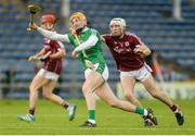 19 August 2017; Séamus Flanagan of Limerick in action against Dan Nevin of Galway during the Bord Gáis Energy GAA Hurling All-Ireland U21 Championship Semi-Final match between Galway and Limerick at Semple Stadium in Tipperary. Photo by Piaras Ó Mídheach/Sportsfile