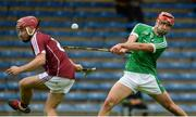 19 August 2017; Barry Nash of Limerick in action against Declan Cronin of Galway during the Bord Gáis Energy GAA Hurling All-Ireland U21 Championship Semi-Final match between Galway and Limerick at Semple Stadium in Tipperary. Photo by Piaras Ó Mídheach/Sportsfile