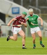 19 August 2017; Seán Linnane of Galway in action against Cian Lynch of Limerick during the Bord Gáis Energy GAA Hurling All-Ireland U21 Championship Semi-Final match between Galway and Limerick at Semple Stadium in Tipperary. Photo by Piaras Ó Mídheach/Sportsfile