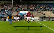 19 August 2017; Seán Linnane of Galway jumps over the bench before the team photograph before the Bord Gáis Energy GAA Hurling All-Ireland U21 Championship Semi-Final match between Galway and Limerick at Semple Stadium in Tipperary. Photo by Piaras Ó Mídheach/Sportsfile