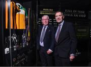 24 August 2017; Former Offaly hurler Padraig Horan with former Kilkenny hurler Frank Cummins during the GAA Museum Hall of Fame – Announcement of 2017 Inductees event at Croke Park in Dublin. Photo by Matt Browne/Sportsfile