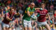 30 July 2017; Kieran Donaghy of Kerry in action against Liam Silke, left, and David Walsh of Galway during the GAA Football All-Ireland Senior Championship Quarter-Final match between Kerry and Galway at Croke Park in Dublin. Photo by Piaras Ó Mídheach/Sportsfile