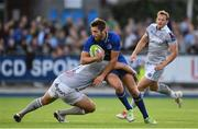 25 August 2017; Ross Byrne of Leinster is tackled by Freddie Burns of Bath during the Bank of Ireland pre-season friendly match between Leinster and Bath at Donnybrook Stadium in Dublin. Photo by Ramsey Cardy/Sportsfile