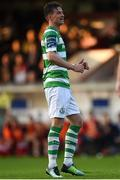 25 August 2017; Ronan Finn of Shamrock Rovers during the Irish Daily Mail FAI Cup Second Round match between Shelbourne and Shamrock Rovers at Tolka Park, in Dublin. Photo by David Fitzgerald/Sportsfile
