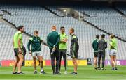 26 August 2017; Kerry players, including from left, Anthony Maher, James O'Donoghue, Johnny Buckley, Bryan Sheehan and Fionn Fitzgerald walk the pitch prior to the GAA Football All-Ireland Senior Championship Semi-Final Replay match between Kerry and Mayo at Croke Park in Dublin. Photo by Brendan Moran/Sportsfile