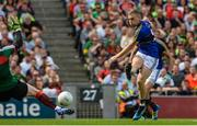 26 August 2017; Peter Crowley of Kerry's shot on goal is saved by David Clarke of Mayo during the GAA Football All-Ireland Senior Championship Semi-Final Replay match between Kerry and Mayo at Croke Park in Dublin. Photo by Piaras Ó Mídheach/Sportsfile